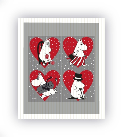 Moomin Christmas dishcloth, heart