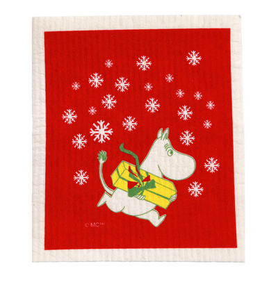 Moomin Christmas pattern dishcloth