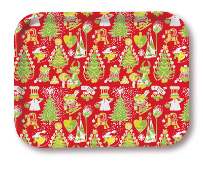 Moomin Christmas serving tray, Christmas design, red