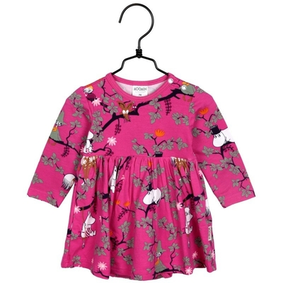 Moomin Climbing Tree Babies' dress, pink