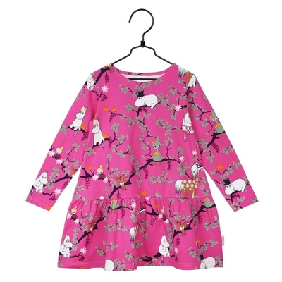 Moomin Climbing Tree children's dress, pink