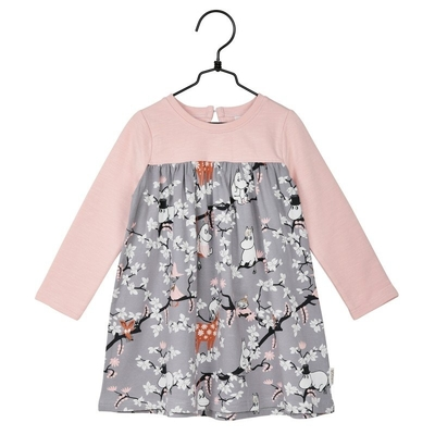 Moomin Climbing Tree children's tunic, grey