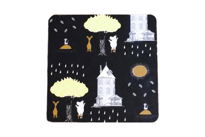 Moomin Coaster Moomin House, black