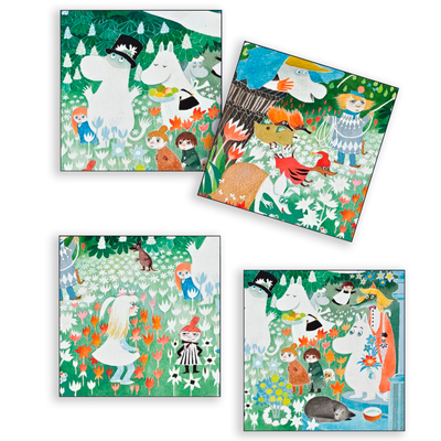 Moomin Dangerous Journey coasters 4pcs