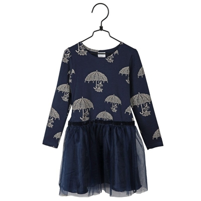 Moomin Dress Fiery Little My, dark blue