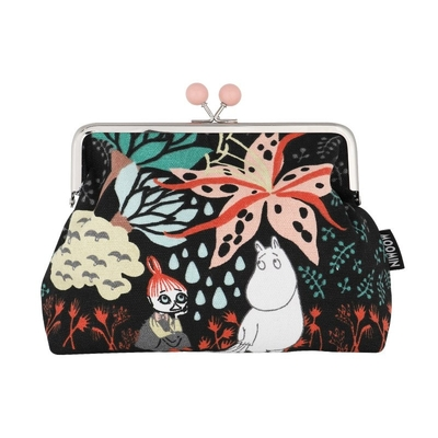 Moomin Emma pouch Magic Forest, black