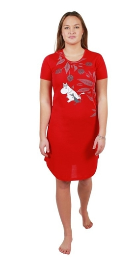 Moomin Friends together nightgown, red