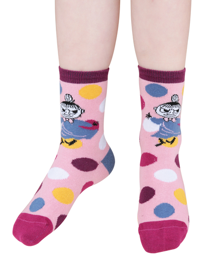 Moomin Fun children's socks 3pcs, light pink