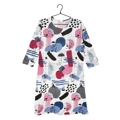 Moomin Fun nightgown, raspberry