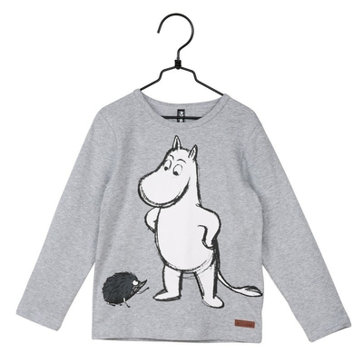 Moomin Hedgehog children's shirt, grey