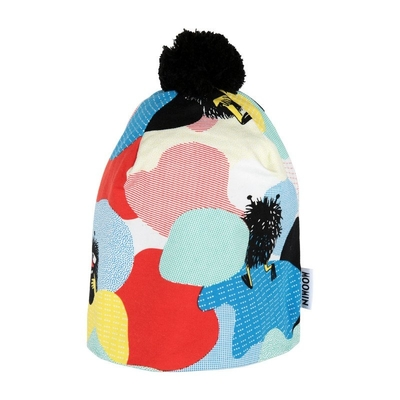 Moomin Hide and Seek beanie with a tuft, black