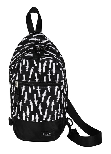 Moomin Homssu backpack/shoulder bag Hattifatteners, black/white