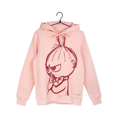 Moomin Lilli women's Little My hoodie Sketch, light pink
