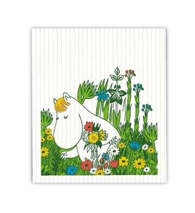 Moomin Midsummer dishcloth
