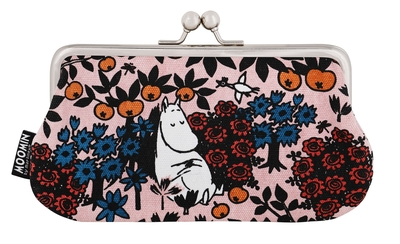 Moomin Miska make up bag / big purse Berry, rose