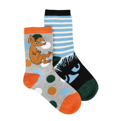 Moomin Moomintroll children's socks 2 pcs, blue