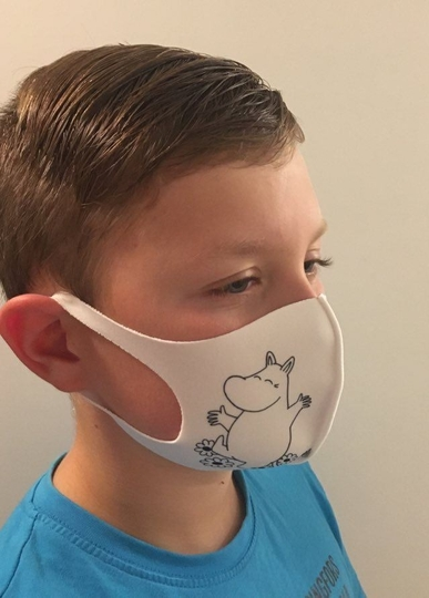 Moomin Moomintroll face mask, white S