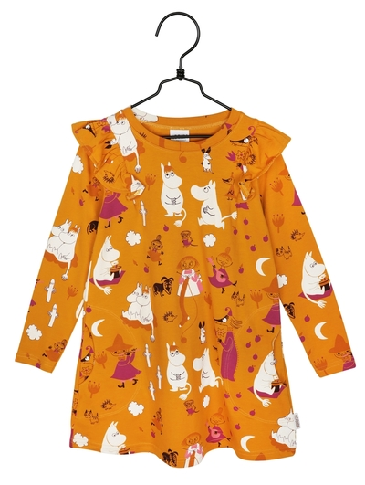 Moomin Moonlight girls' tunic-dress, yellow