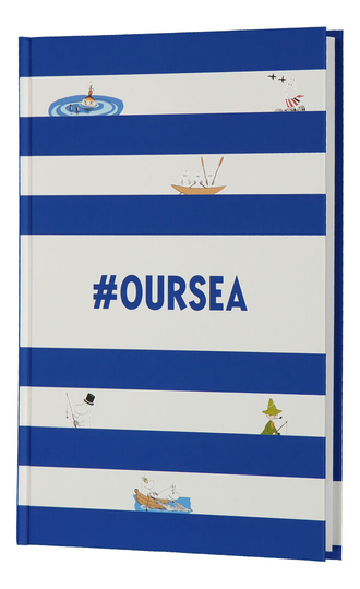 Moomin #Oursea log-/guestbook, blue