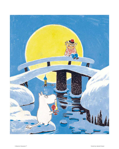 Moomin Poster 24 x 30cm Too-Ticky on the Bridge