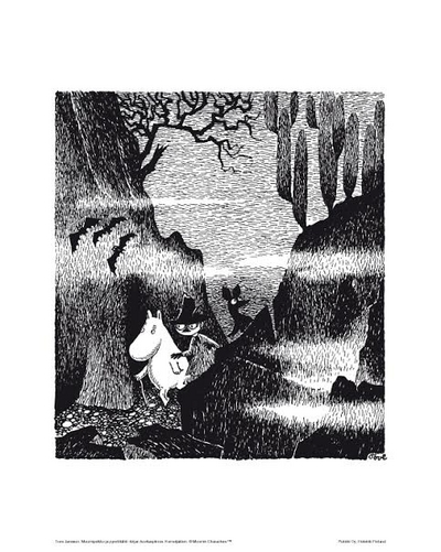 Moomin Poster 24 x 30cm, Moomins in the forest