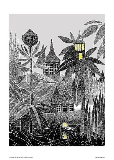 Moomin Poster Big Size 50 x 70cm, Toffle's House