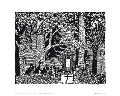 Moomin Poster Forest Cabin
