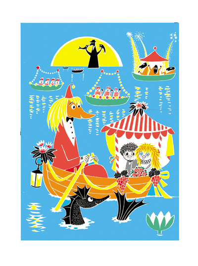 Moomin Poster Miffle and Toffle in the boat