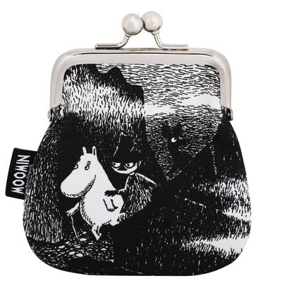 Moomin Sanna purse Hiding, black/white