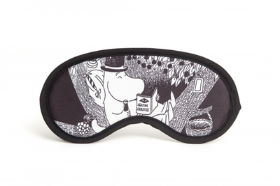 Moomin Sleeping mask Moominpappa, black/white