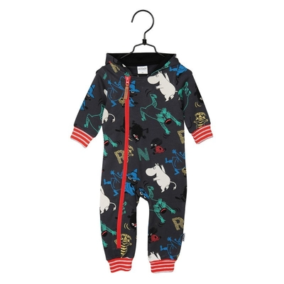 Moomin Speed babies' jump suit, dark grey