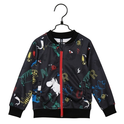 Moomin Speed children's bomber jacket, dark gray
