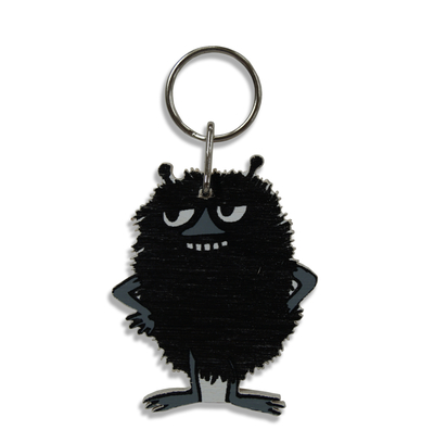 Moomin Stinky wooden keyring