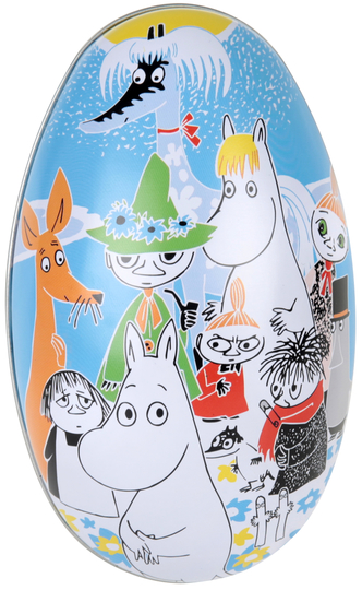 Moomin Summerday easter egg, blue