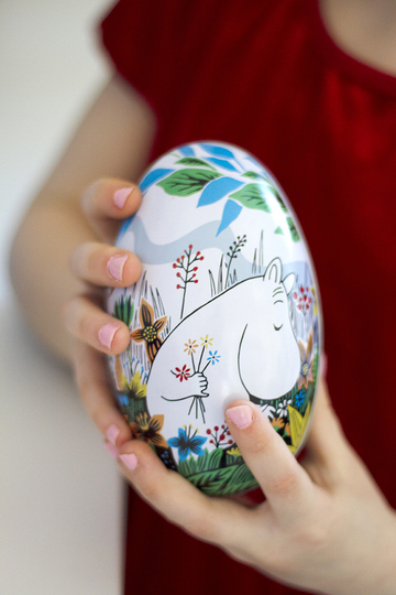 Moomin Summerday easter egg, white
