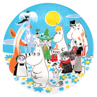 Moomin Summerday plate, blue