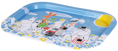 Moomin Summerday serving tray, blue