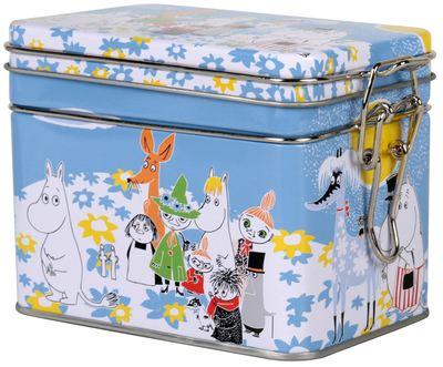 Moomin Summerday tea caddy, blue