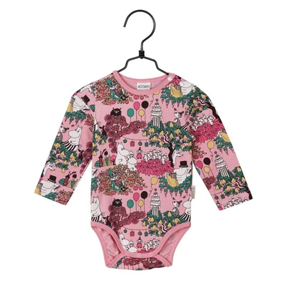 Moomin Time for Celebration babies' body suit, rose