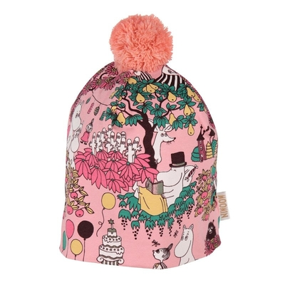 Moomin Time for Celebration beanie with a tuft, rose