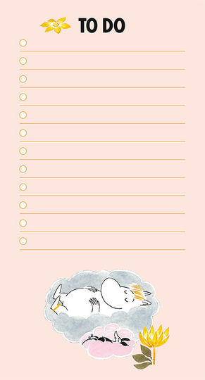 Moomin To do-list Glossy images, light pink
