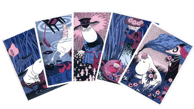 Moomin Tove original card set, 5pcs