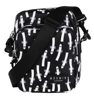 Moomin Vili shoulder bag Hattifatteners, black/white