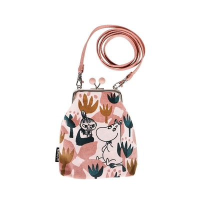 Moomin Vinssi purse bag Blooming, rose