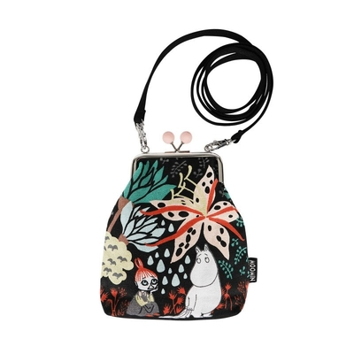 Moomin Vinssi purse bag Magic Forest, black
