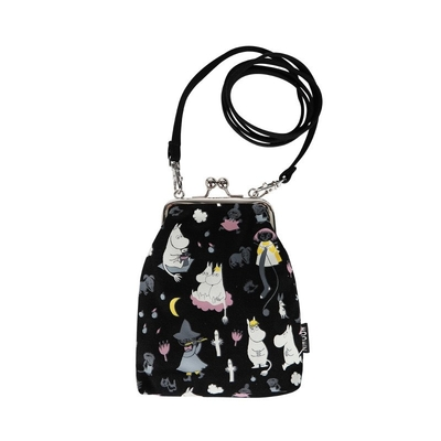 Moomin Vinssi purse bag Moonlight, black