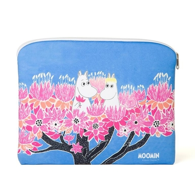 Moomin accessory / tablet pouch, Moomins on the tree