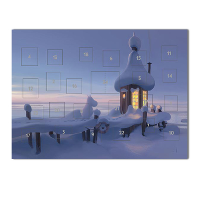 Moomin advent calendar A4 Wintery bathhouse