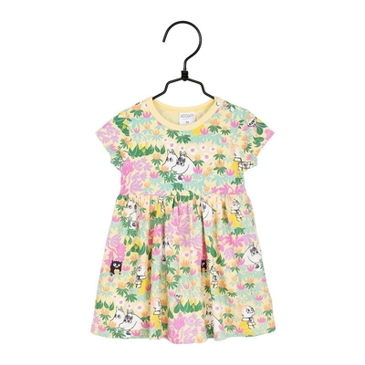 Moomin babies' Lehvät bodysuit dress, yellow