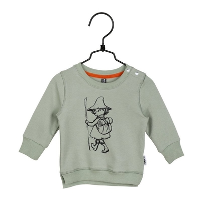 Moomin babies' Sketch jersey knit shirt, green